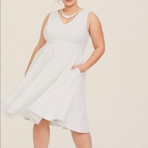 Torrid size 18 white dress with pockets.